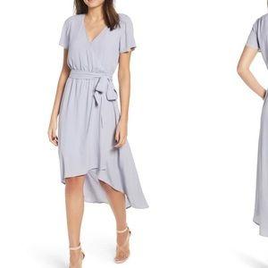 NWOT leith midi wrap dress